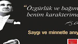 CHP İL BAŞKANI TOPRAK ''IŞIĞIN YOLUMUZDUR''
