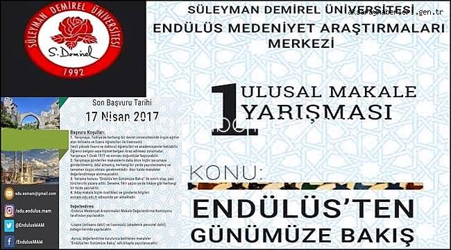"""""""ENDÜLÜS'TEN GÜNÜMÜZE BAKIŞ"""" KONULU MAKALE YARIŞMASI"""