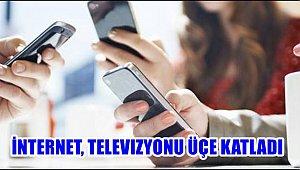 İNTERNET, TELEVIZYONU ÜÇE KATLADI
