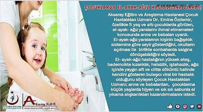 DR. EMİNE ÖZDEMİR 'HASTALIĞI ÖNLEMEK İÇİN SUYA, SABUNA DOKUNUN'