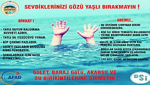 AKSARAY AFAD DAN BOĞULMALARA KARŞI ÖNEMLİ UYARI!!!