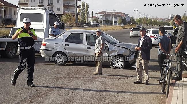 Aksaray Merkezde trafik kazası 2 yaralı