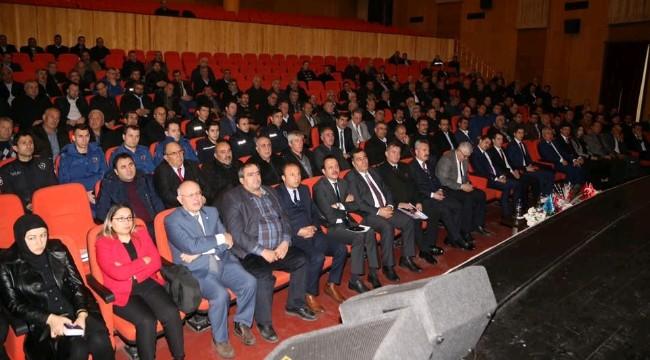 Aksaray'da Uyuşturucu ile etkin mücadele için muhtarlar bilgilendirildi