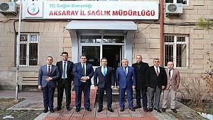 VALİ ALİ MANTI AKSARAY'DA BOŞALTILAN SAĞLIK TESİSLERİNDE İNCELEMELERDE BULUNDU