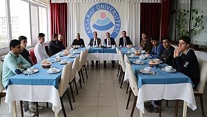 ULUSLARARASI MEVLANA ANADOLU İHL HEYETİ, ŞAHİN'İ ZİYARET ETTİ