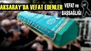 BEKİR TURHAN VEFAT ETTİ 02.09.2019 PAZARTESİ