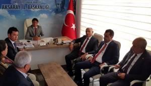 CHP MİLLETVEKİLLERİ AKSARAY'DA ZİYARETLERDE BULUNDU