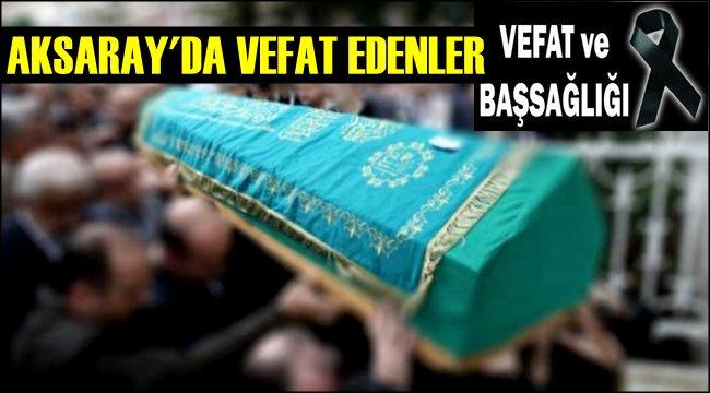 NACİYE ASLAN VEFAT ETTİ 01.09.2019 PAZAR
