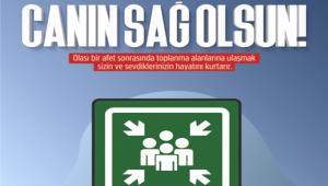 AKSARAY AFAD BİLGİLENDİRİYOR 'TOPLANMA ALANINI ÖĞREN Kİ CANIN SAĞ OLSUN!'