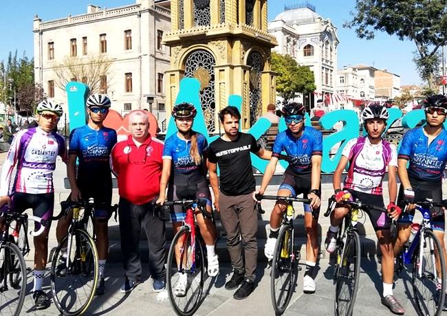 Kulüpler arası 4.etap puanlı yol yarışı Bugün Aksaray merkezde yapıldı