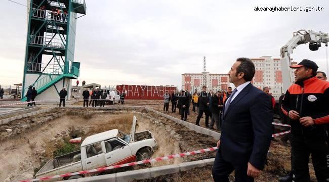 AKSARAY'DA DEV TATBİKAT! 26 HİZMET GRUBUNDA 374 PERSONEL KATILDI