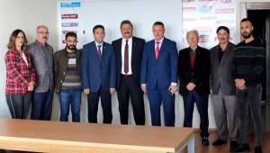 Emniyet Müdürü Kolcu Orta Anadolu Gazeteciler Cemiyetini Ziyaret Etti