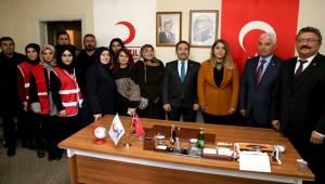 TÜRK KIZILAY'I AKSARAY ŞUBESİ'NE ZİYARET