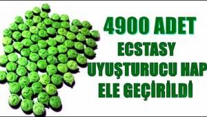 YAPILAN OPERASYONDA 4900 ADET UYUŞTURUCU HAP ELE GEÇİRİLDİ