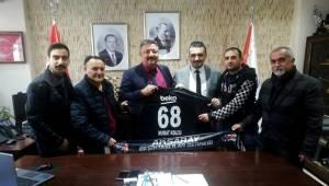 Aksaray Beşiktaşlılar Derneğinden Murat Kolcu'ya ziyaret