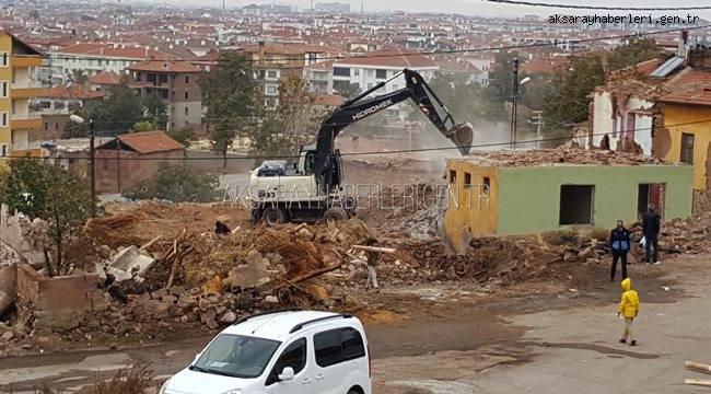 AKSARAY'DA 2019 YILINDA 184 METRUK BİNA YIKILDI