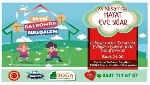 Aksaray Balkonda kutlanacak 23 nisan'a hazırlanıyor