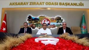 MHP AKSARAY TEŞKİLATINDAN ZİRAAT ODASI'NA HAYIRLI OLSUN ZİYARETİ!