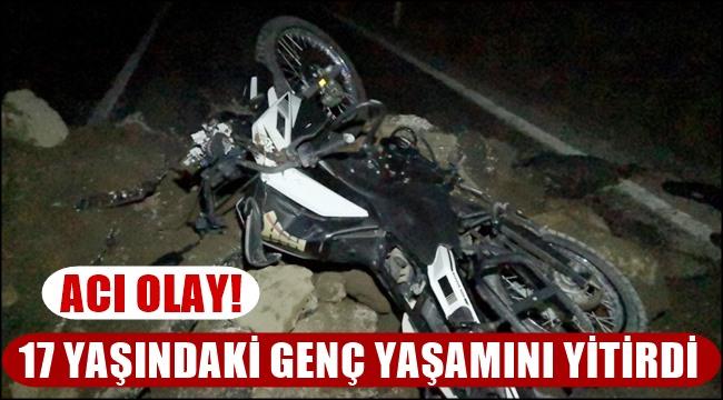ACI OLAY! 17 YAŞINDAKİ HALİS OSKAY MOTOSİKLET KAZASINDA YAŞAMINI YİTİRDİ
