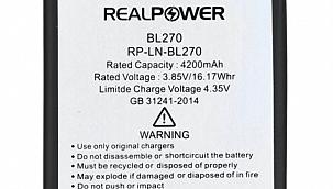 Ucuz Lenovo K6 Batarya Fiyatı RealPower'da!