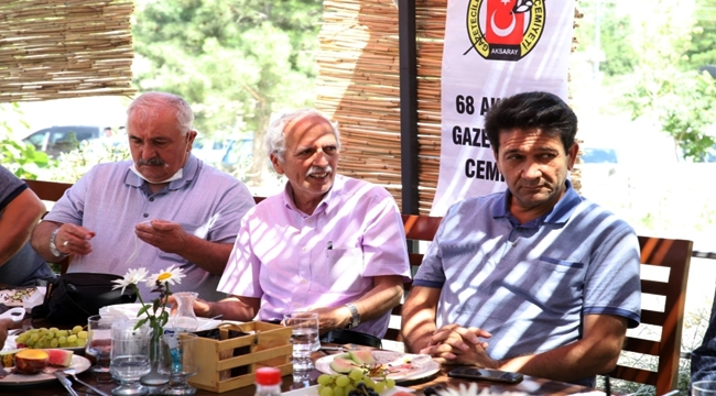 68 AKSARAY GAZETECİLER CEMİYETİ'NDEN HELVADERE'YE ZİYARET