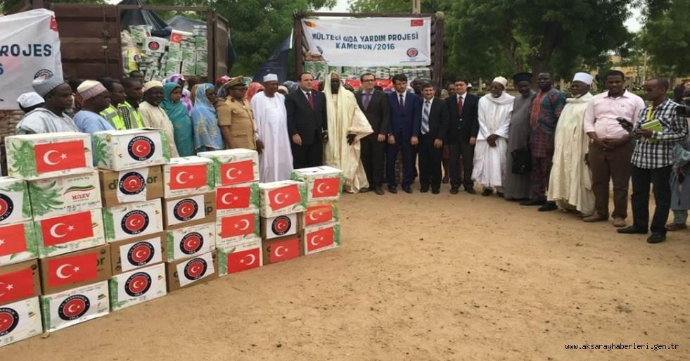 TÜRKİYE'DEN KAMERUN'DA BULUNAN SIĞINMACILARA İNSANİ YARDIM